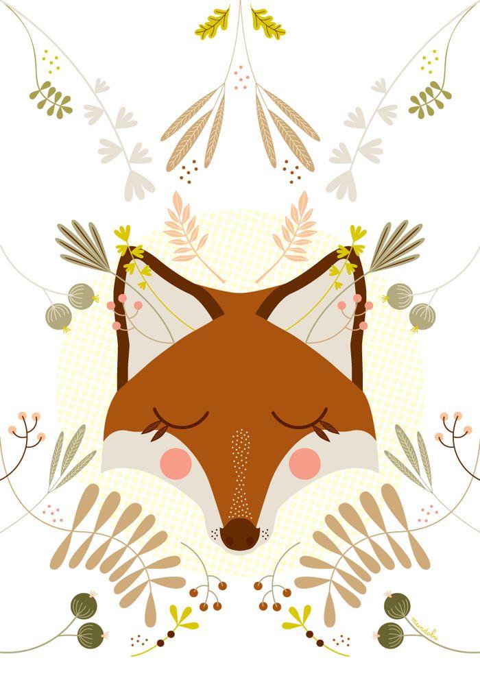 Après les fêtes, je vous propose de découvrir des illustrations poétiques réalisées par Mundo Bu. Voici une petite sélection de portraits d'animaux : cerf, ours, renard, loup... J'aime beaucoup le traitement vectoriel (l'aspect 2D), les couleurs et les végétaux donnant le caractère de chaque portrait.