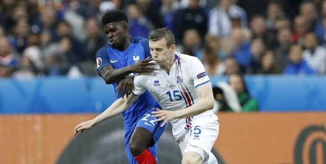 Dimanche, Samuel Umtiti a débuté avec les Bleus lors de la victoire en quart de finale de l'Euro contre l'Islande (5-2).