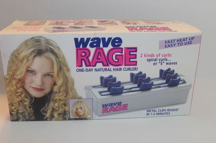 Wave Rage Helen of Troy Hot Curlers Hair Wavy Spiral Curl Crimper #HelenofTroy