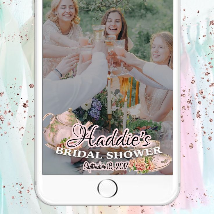 Bridal Tea Party Snapchat Filter - Vintage Tea Party - Custom Text - Shower, Bridesmaids Luncheon, Baby Shower - On Demand Geofilter Design by LooksLikeGlitter on Etsy https://www.etsy.com/listing/519574342/bridal-tea-party-snapchat-filter-vintage