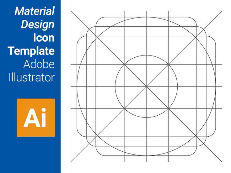 Material Design Icon Template (Adobe Illustrator)