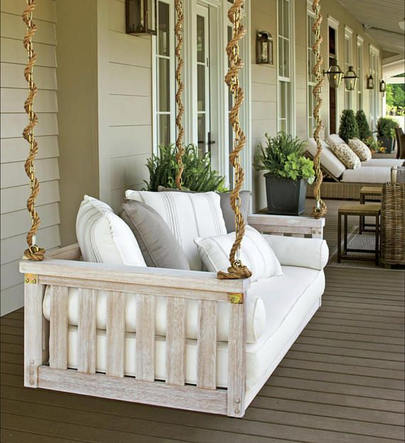 Porch Swing Cover White Mattress Cover Outdoor Bed Twin Home Decor House Front Porch Home