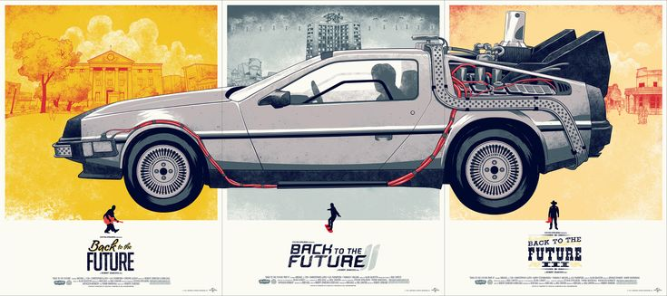 Back to the Future Trilogy Set | Designer: Phantom City Creative - phantomcitycreati... | Printer: D & L Screenprinting - www.dlscreenprint...