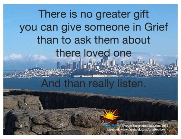 Give the Gift of Listening | The Grief Toolbox