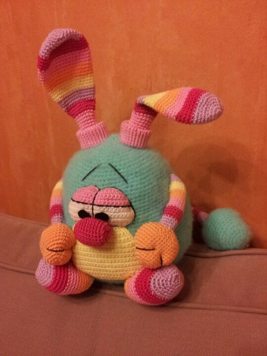 reflective funny bunny From: amigurumi-haken.be