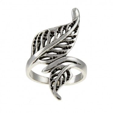 Charming Sterling Silver Feather Ring. Only at Steelza.com