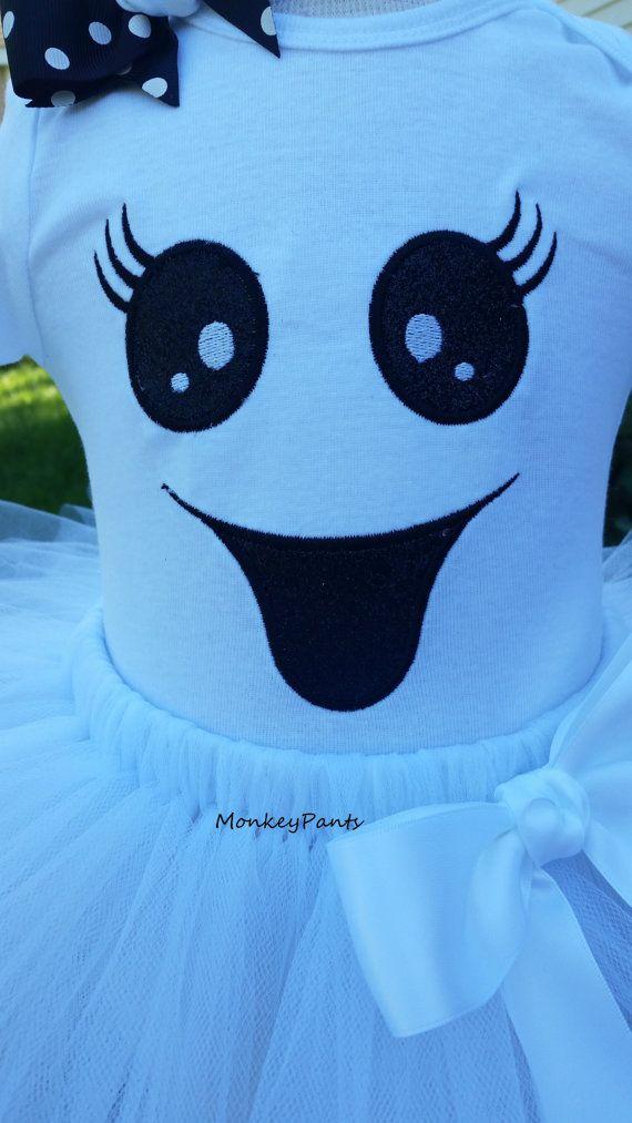 Las muchachas del bebé niña fantasma traje por MonkeyPantsPartyHats