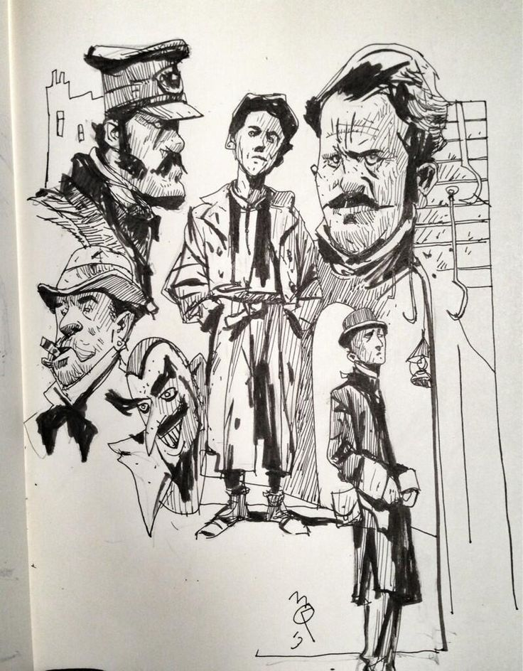 Doodling along with Gangs of New York:
