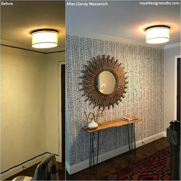 Before After Stencil Transformations You Need To See In 2020 Home Decor Decor Diy Home Decor Projects