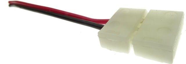 MUFA ALIMENTARE BANDA LED 8MM benzile de latime 8mm poate fi utilizata la interior, avand gradul de protectie IP20. Cu aceasta mufa de alimentare puteti face legatura intre banda LED si transformatorul cu iesire de 12V. Pretul afisat este per bucata.