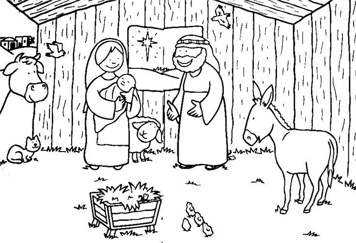 jezus geboren in de stal
