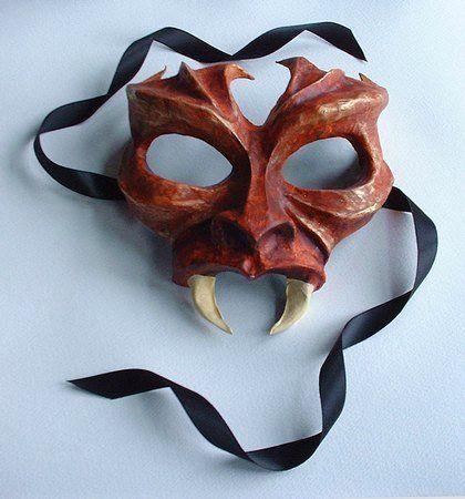 Masquerade Ball Masks: unique masquerade masks by maskmaker Helen Rich | Masks Gallery | Gothic | Little Devil