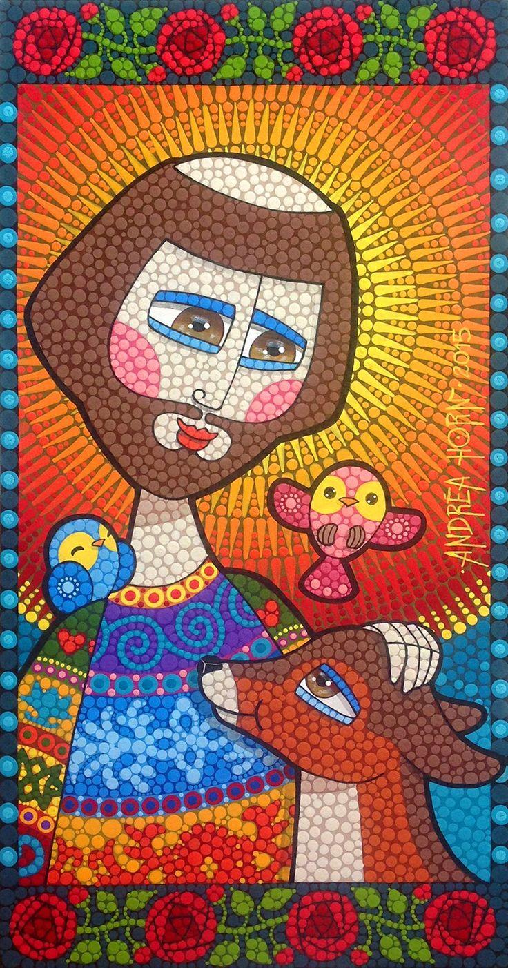 Técnica: Mosaico de Tinta Tamanho: 30 x 57 cm   Tinta plástica sobre madeira com acabamento em verniz marítimo        Técnica: Mosaico ...
