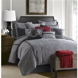 Hamilton Bedding Set Bedding Set: This industrial look is sleek and clean. You're going to love the luxurious look and feel of this soft black and white tweed fabric. Slow down and relax with simple line details, easy patterns, rope and zipper details that make up this rich bedding. Add a splash of color with a fun decor pillow and throw, to make it your own. Bedding set includes: Comforter, Bedskirt and 2 Standard Pillow Shams (Twin Set has 1 Standard Pillow Sham). Accessory Pillows…