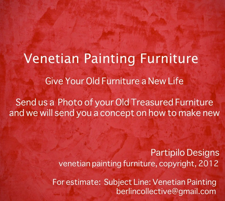 Venetian Plaster Furniture in Your Home