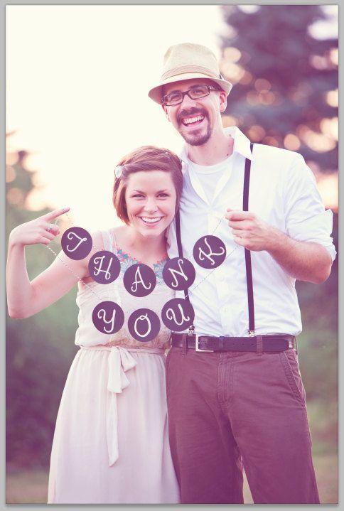 Great wedding thank you idea!!!