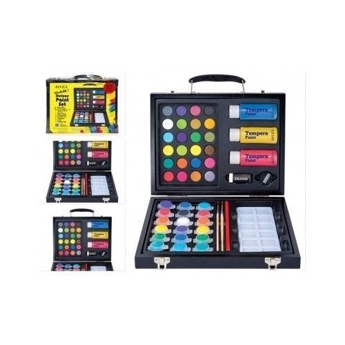 Kids Paint Set Washable Art Deluxe Watercolors Cakes Brushes Color Painting Wood in Crafts, Kids' Crafts, Drawing & Painting, Paint Sets | eBay