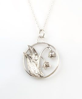 The PERFECT gift for a May birthday! Hand-engraved Lily of the Valley Birthday Bloom Pendant. May's birthday flower is the Lily of the Valley which means Sweetness and Purity.