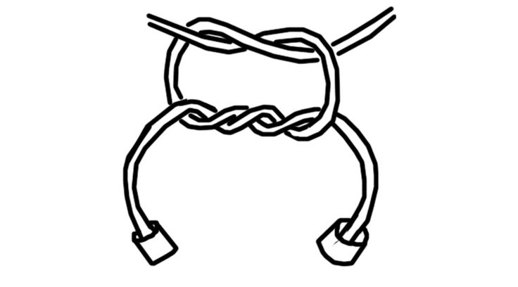 Surgeon's Knot for tying elastic cord (stretch bracelets)....