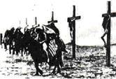 A propos de l'illustration de cet article : Cette photo (en fait, il doit s'agir d'un dessin fait par un témoin) représente les centaines (milliers ?) de femmes arméniennes crucifiées nues par les Turcs dans le Désert de Syrie en 1915 lors du Génocide Arménien. Certaines ont été sauvées par des bédouins qui passaient par là et qui acceptaient de les détacher de leurs croix en échange d'une promesse de mariage.