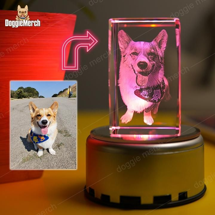 This Wonderful 3d Photo Laser Etched Crystal Lamp Will Bring Your Favorite Photographs To Life Your Photo Is Laser Engraved Crystal Lamp Lamp Engraved Crystal