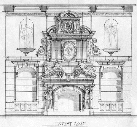 15 best blueprints images on pinterest architecture drawings fireplace elevation baroque architecturebeautiful malvernweather Image collections