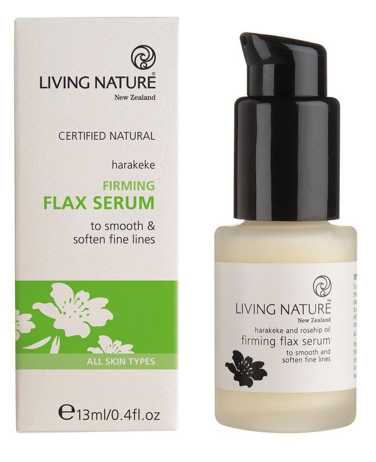 Organic Beauty Products >> Firming Flax Serum from Living Nature. With jojoba, cetearyl olivate & grape seed oil. | serums ...