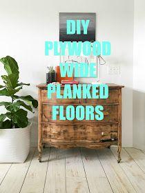.: DIY PLANKED FLOORS  Debating between this or painting.