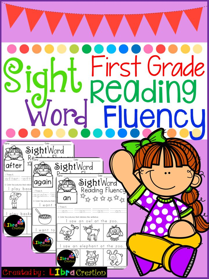 Sight Word Reading Fluency 1st Grade  This product includes: * 41 pages of reading fluency. Your early reader needs to read the sentence and color the picture that matches with the sentence. It's simple and fun to teach them to follow direction.  Preschool, Preschool Worksheets, Kindergarten, Kindergarten Worksheets, First Grade, First Grade Worksheets, Sight Word, Sight Word Activities, Sight Word Activities The Bundle, Bundle, Sight Word, Sight Word Printables