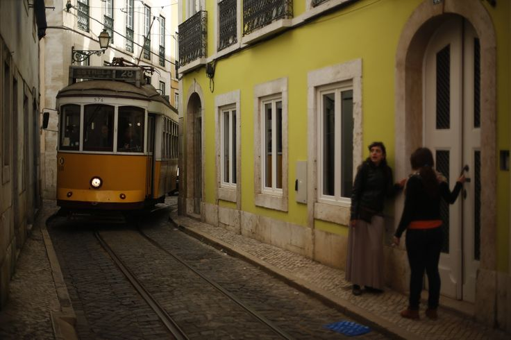 Falling in love, and longing, in Lisbon   via Washington Post   14/03/2014  The tram twists and turns up and down the hills of Lisbon. ...We are on tram 28, a rickety vintage car that has been winding its way through Lisbon's streets since 1928.  #Portugal