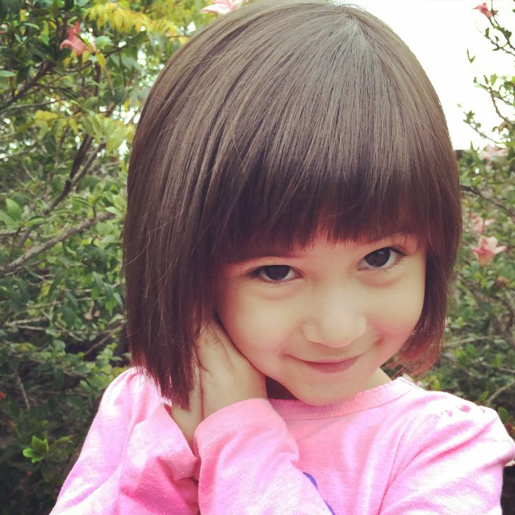 Little Girl's Bob cut with bangs