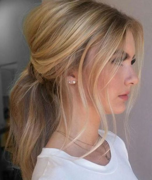 17 Trendy Hairstyles for Long Hair: #8. Messy Ponytail Hairstyle