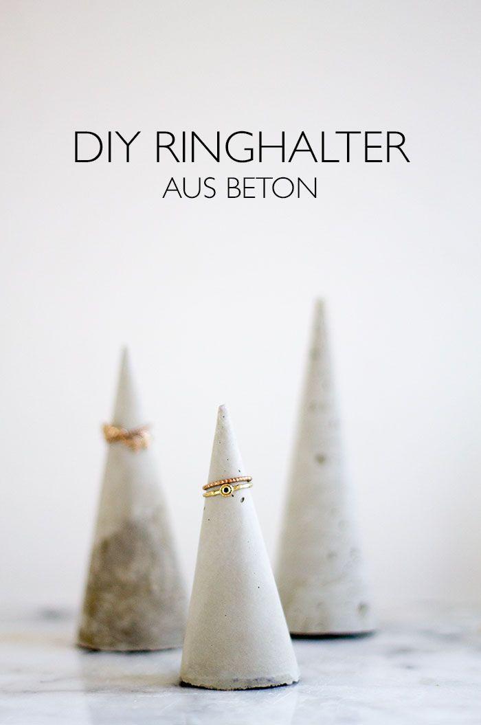 DIY Ringhalter aus Beton -  Beton Kegel - lindaloves.de                                                                                                                                                                                 Mehr