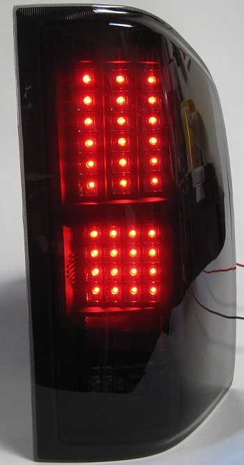 Smoke Chevy Silverado 2007 - 2012 LED Tail Light