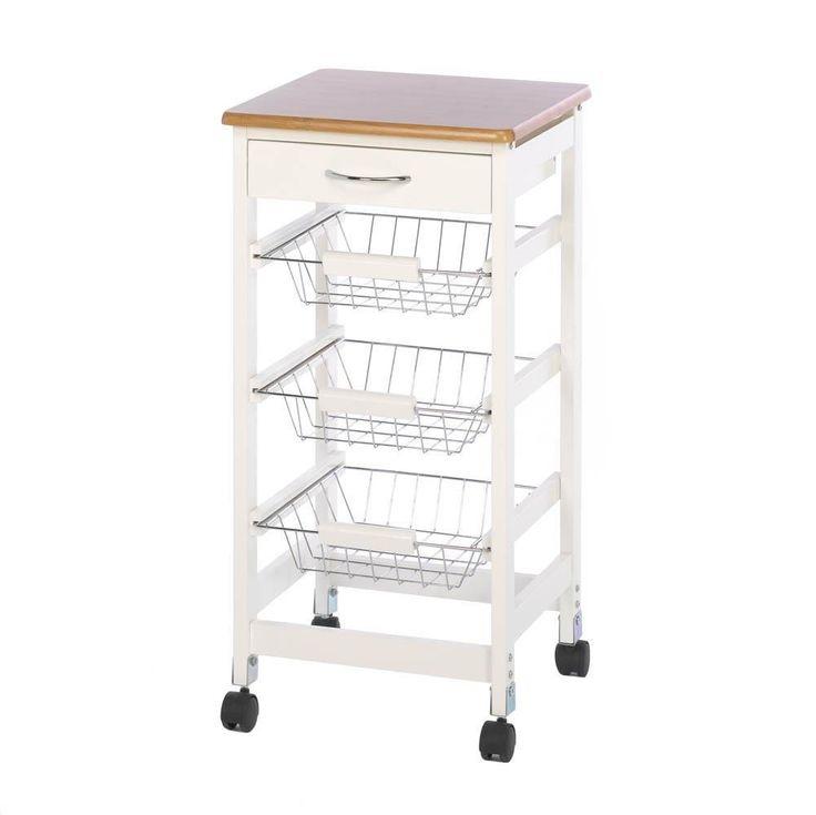 Kitchen Utility Cart, Trolley Storage Organizer Table Rolling Mobile Cart Kitchen
