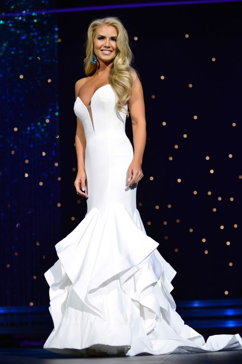 Miss Utah USA 2016 Evening Gown: HIT or MISS? | Utilizing a straightforward silhouette in a luxe fit and fabric, along with wise styling choices, Teale Murdock snagged the title of Miss Utah USA and will represent her home state at the Miss USA pageant!  Read more: http://thepageantplanet.com/miss-utah-usa-2016-evening-gown/#ixzz3yVcgmgPR