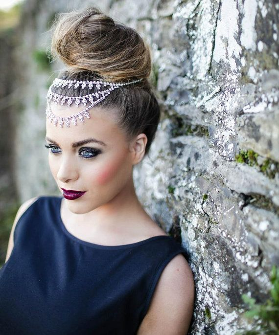 Indian Wedding Headdress: Jasmine Indian Crystal Headpiece By WillowMoone On Etsy