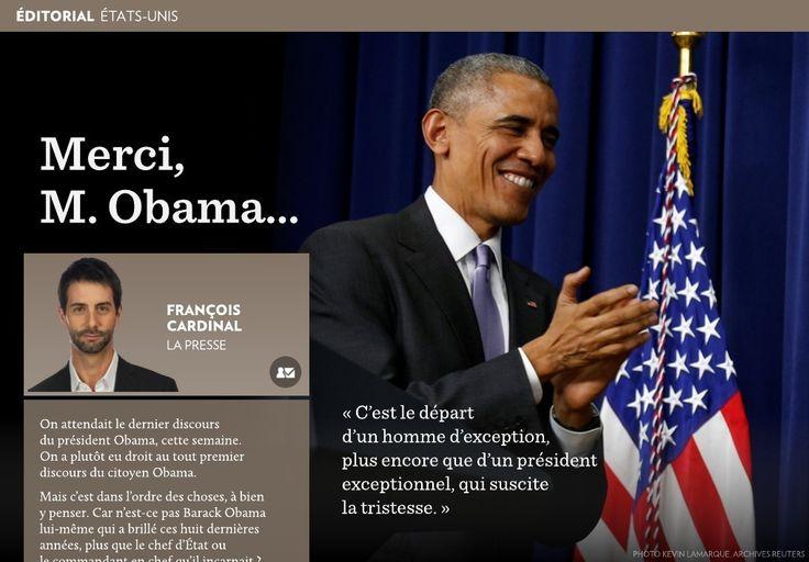 On attendait le dernier discours  du président Obama, cette semaine.  On a plutôt eu droit au tout premier discours du citoyen Obama.-Mais c'est dans l'ordre des choses, à bien  y penser. Car n'est-ce pas Barack Obama  lui-même qui a brill&