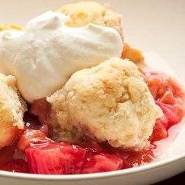 Rhubarb & Raspberry Cobbler - the Chefs Toolbox