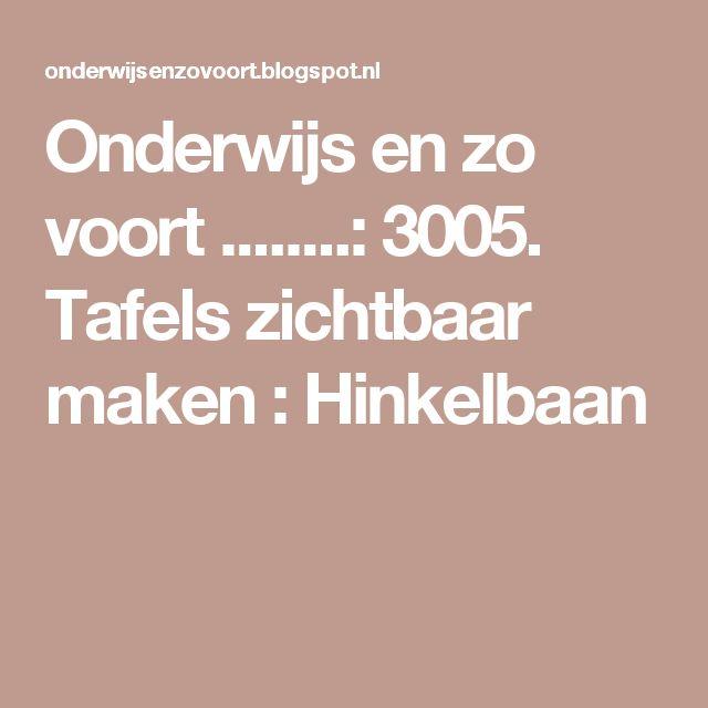 Onderwijs en zo voort ........: 3005. Tafels zichtbaar maken : Hinkelbaan