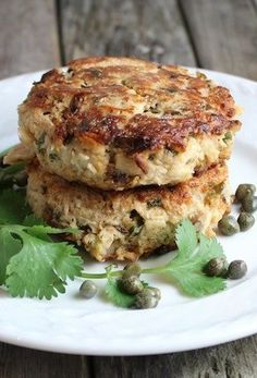 SPICY CILANTRO TUNA CAKE [tasteandsee] [canned tuna, tinned tuna, preserved seafood, canned seafood, tinned seafood] [seafood paste, fish paste, fishcake paste, crab cake, seafood cake, fishcake, shrimp cake]