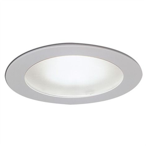 4in Low Voltage Wet Location Shower Recessed Lighting Trim with Frosted Glass Lens
