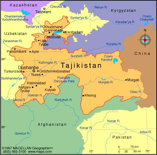2 13 14 1a B Tajikistan The Smallest Country Of The Central Asia Is Located In Its Southeast