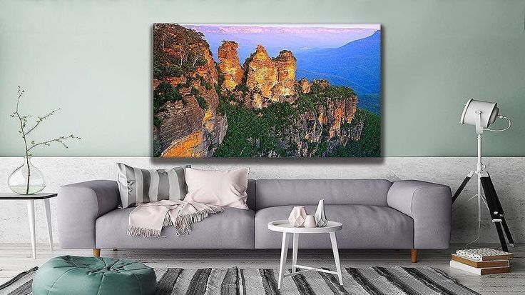 "Australia and its endless beauty. This is ""The Blue Mountains"" and you can find it at #thecanvasartfactory"