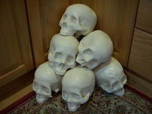 Lots of skulls from liquid plastic and foam - tutorial for making ...