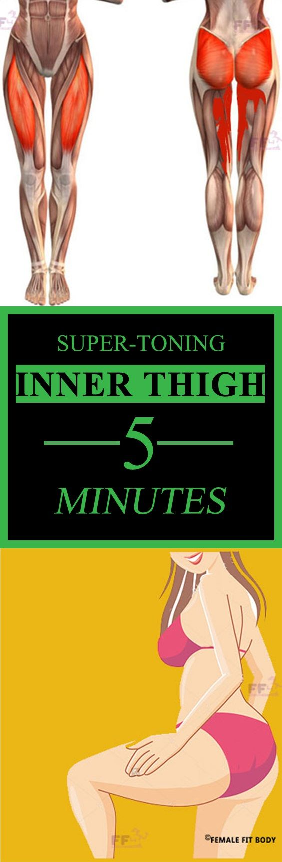 This inner thigh workout will only take five minutes and will light your hips and thighs on fire.