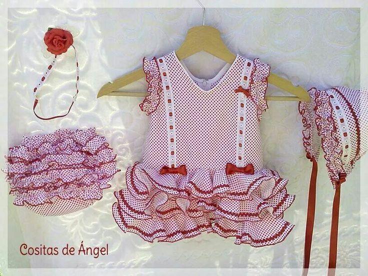 Traje de flamenca para bebes