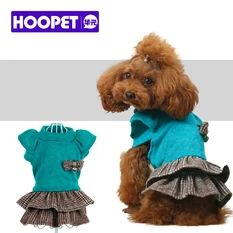 Pet Supplies Princess Sleeve Dress Stitching Lovely Splice Warm Fur Coat Small Pets Dogs Costumes-(XS)-Intl