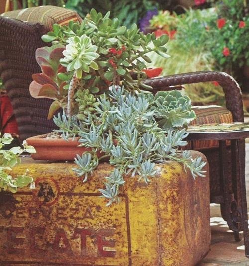 Antique garden container
