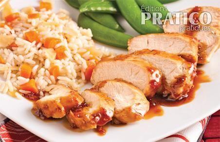 Poitrines de poulet, sauce teriyaki à l'érable - Recettes - Cuisine et nutrition - Pratico Pratique